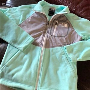 Girls north face fleece jacket size 10/12